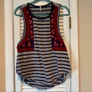 FREE PEOPLE GYPSY TANK TOP EXCELLENT CONDITION Sm
